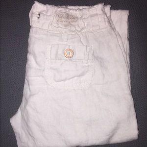 Guess Jeans white linen drawstring pants